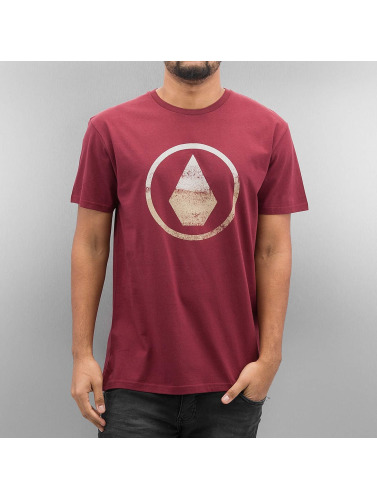 Volcom Herren T-Shirt Canvas Stone in rot