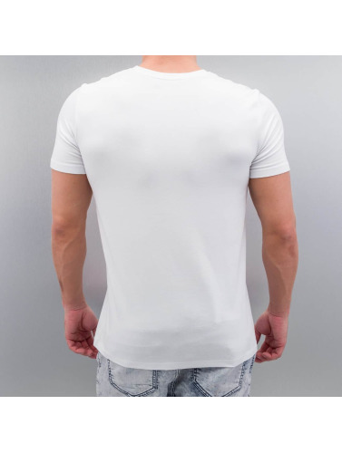 VSCT Clubwear Hombres Camiseta Zip Pocket in blanco