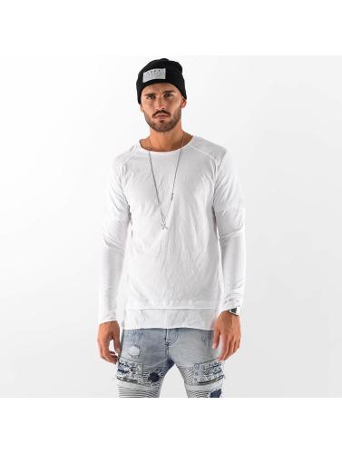 VSCT Clubwear Hombres Camiseta de manga larga Basic 2 in 1 in blanco