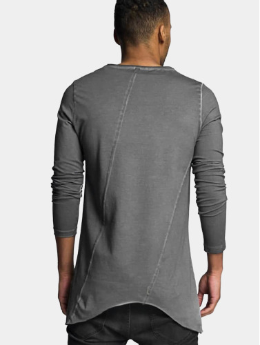 VSCT Clubwear Hombres Camiseta de manga larga Longshirt Oilwash in gris
