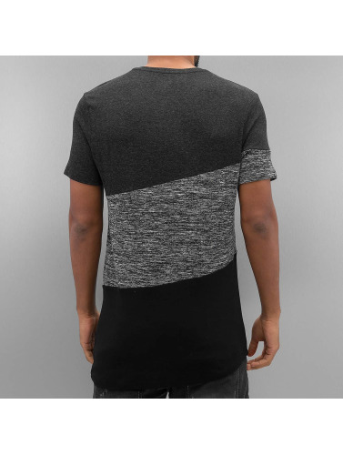 VSCT Clubwear Hombres Camiseta Sate Mix Fabric in gris