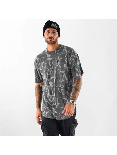 VSCT Clubwear Hombres Camiseta Camo Washed in gris