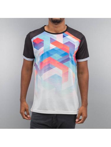 VSCT Clubwear Hombres Camiseta Geo Maze Fade in negro