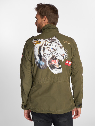 VSCT Clubwear Hombres Chaqueta de entretiempo Customized Tiger in caqui