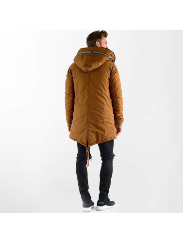 VSCT Clubwear Hombres Chaqueta de invierno Double-Zipper Huge Luxury Sherpa in marrón