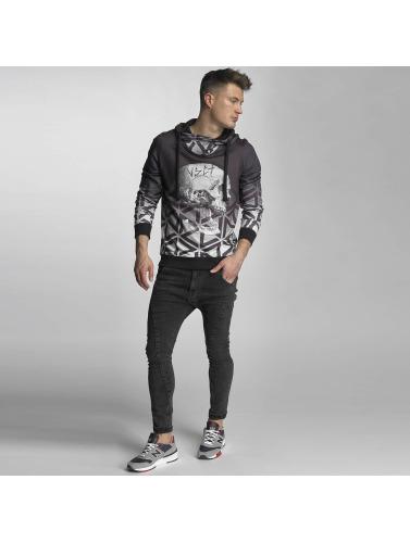 VSCT Clubwear Herren Hoody Twisted Skull Matix in grau