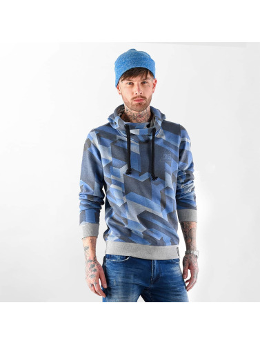 VSCT Clubwear Herren Hoody Twisted Geomatrix in indigo