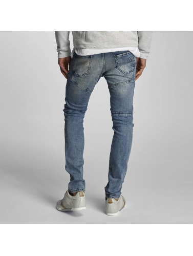 VSCT Clubwear Hombres Jeans ajustado Arnachy Heavy Biker in azul