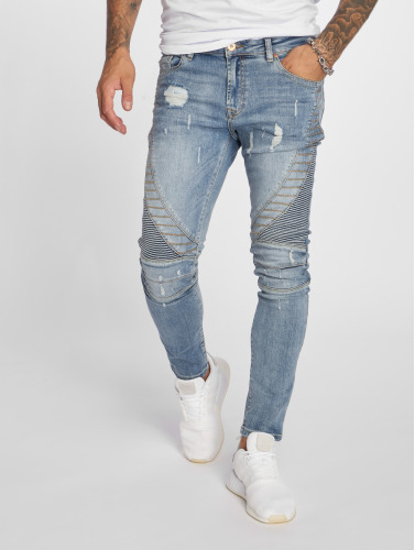 VSCT Clubwear Hombres Jeans ajustado Ryder Biker Luxury in azul