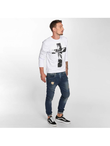 VSCT Clubwear Hombres Jeans ajustado Liam Biker in azul