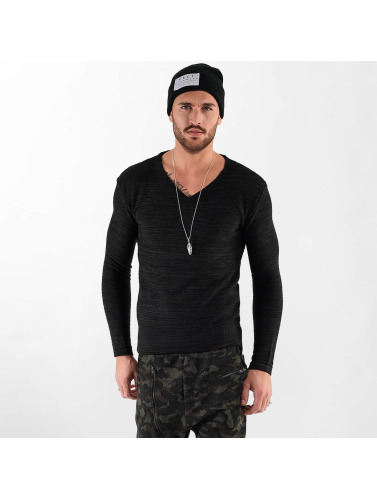 VSCT Clubwear Herren Longsleeve Clubwear V Neck Knit Optics in schwarz
