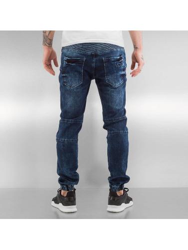 VSCT Clubwear Herren Skinny Jeans Nano Cuffed in blau