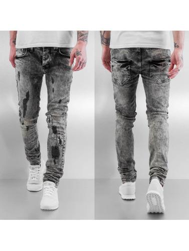 VSCT Clubwear Herren Skinny Jeans Alec Slim 5 Pocket in schwarz