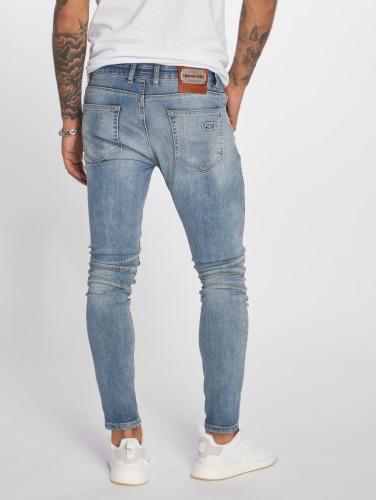 VSCT Clubwear Herren Slim Fit Jeans Ryder Biker Luxury in blau