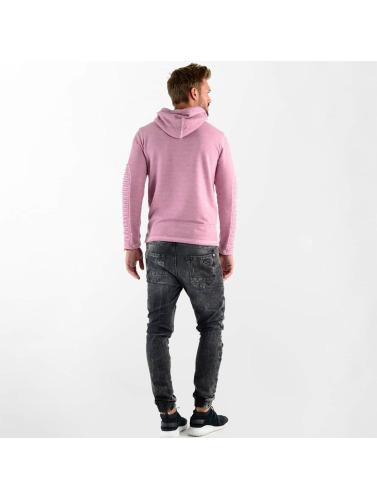 VSCT Clubwear Hombres Sudadera Biker Oilwash in rosa