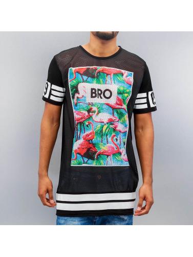 VSCT Clubwear Herren T-Shirt Flamingo Bro Oversize in schwarz