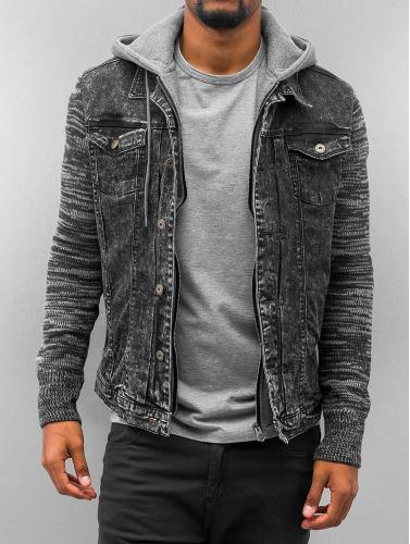 VSCT Clubwear Herren Übergangsjacke Hybrid Denim in schwarz