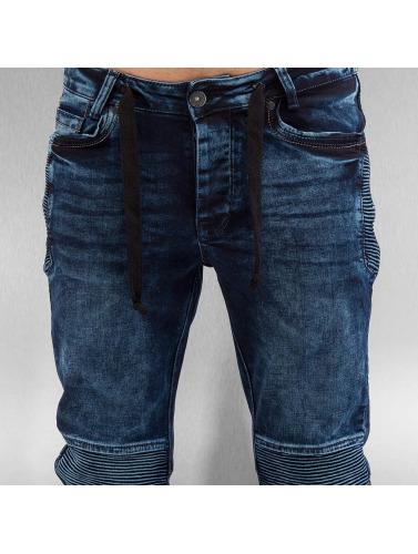 VSCT Clubwear Hombres Vaqueros pitillos Nano Cuffed in azul