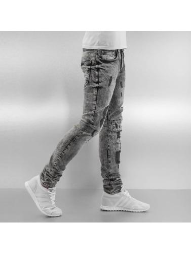 VSCT Clubwear Hombres Vaqueros pitillos Alec Slim 5 Pocket in negro