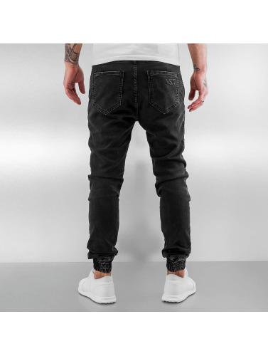 VSCT Clubwear Hombres Vaqueros pitillos Neo Cuffed in negro