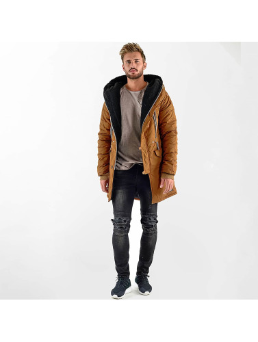 VSCT Clubwear Herren Winterjacke Double-Zipper Huge Luxury Sherpa in braun