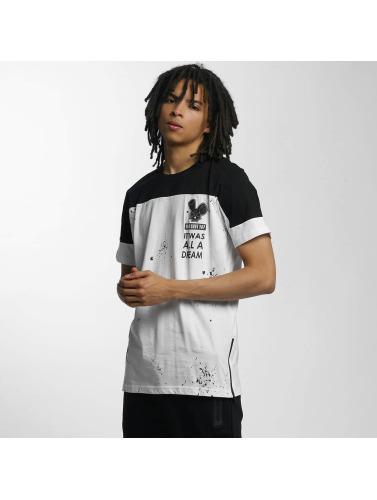 Who Shot Ya? Hombres Camiseta Contrast in blanco