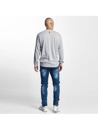 Who Shot Ya? Hombres Camiseta de manga larga Julez in gris