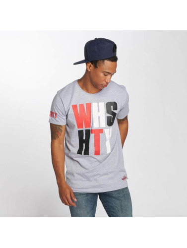 Who Shot Ya? Hombres Camiseta WHSHTY in gris