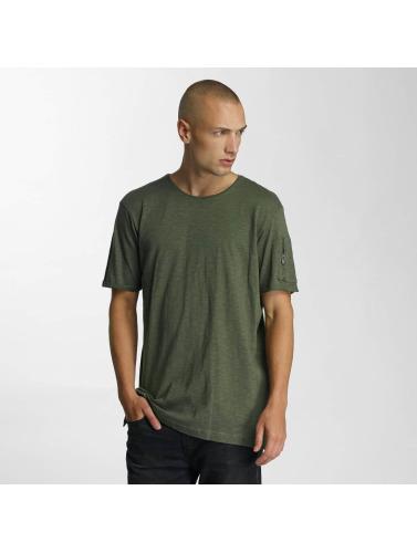 Who Shot Ya? Hombres Camiseta Haora in oliva