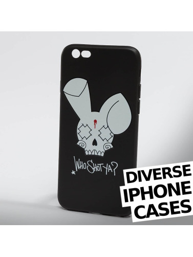 Who Shot Ya? Handyh眉lle Bunny Logo iPhone in schwarz
