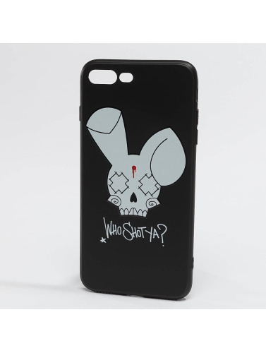 Who Shot Ya? Handyhülle Bunny Logo iPhone in schwarz