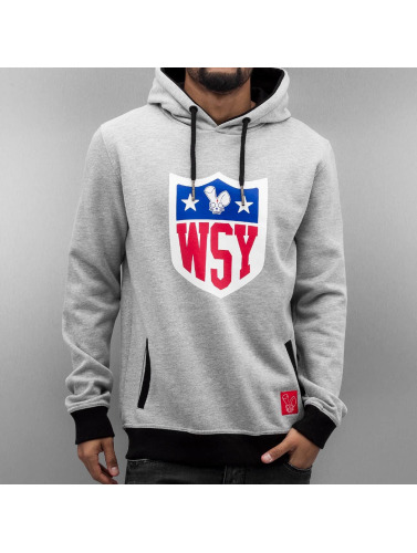 Who Shot Ya? Herren Hoody Collegebro in grau
