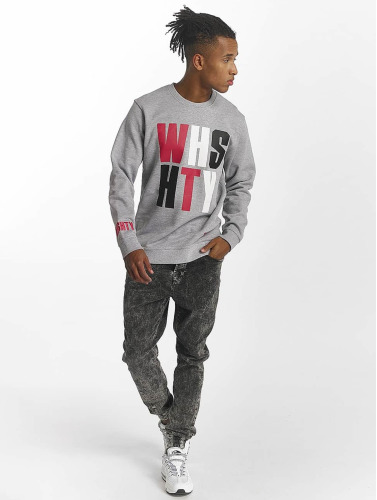 Who Shot Ya? Hombres Jersey WHSHTY in gris