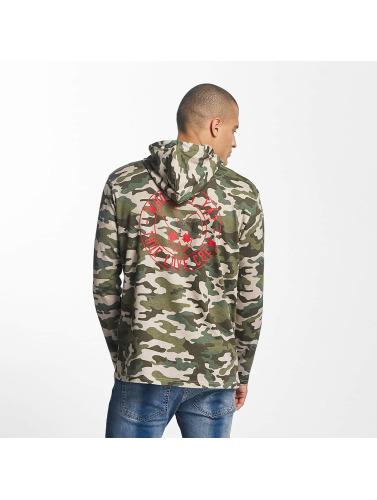 Who Shot Ya? Herren Longsleeve Emis in camouflage
