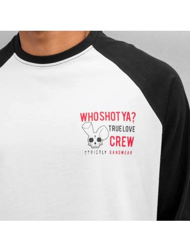 Who Shot Ya? Herren Longsleeve True Love Crew in schwarz