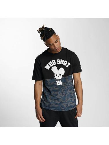 Who Shot Ya? Herren T-Shirt Darkcamou in schwarz