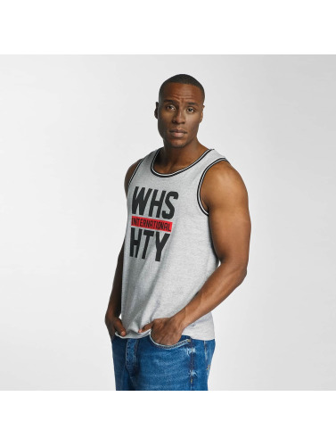 Who Shot Ya? Hombres Tank Tops International in gris