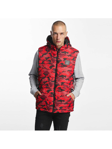 Who Shot Ya? Herren Weste BigWho Quilted in rot