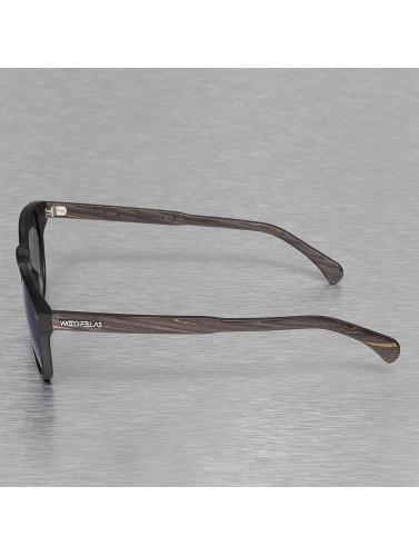 Wood Fellas Eyewear Sonnenbrille Eyewear Haidhausen Polarized Mirror in schwarz