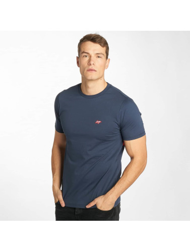 Wrung Division Hombres Camiseta Backer in azul