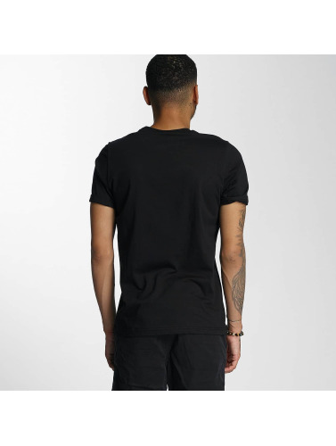 Wrung Division Hombres Camiseta Texture in negro