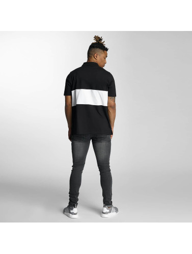 Wrung Division Hombres Camiseta polo Sport in negro