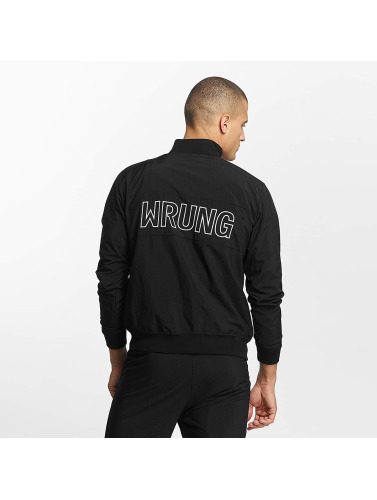 Wrung Division Hombres Chaqueta de entretiempo Ideal in negro