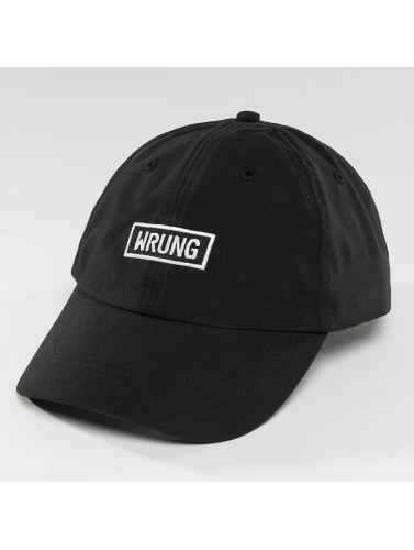 Wrung Division Snapback Cap Small Box in schwarz