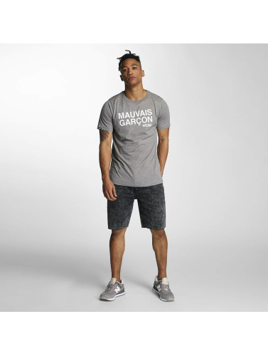 Wrung Division Herren T-Shirt Mauvais Garcons in grau