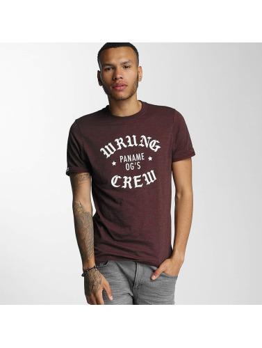 Wrung Division Herren T-Shirt DA Crew in rot