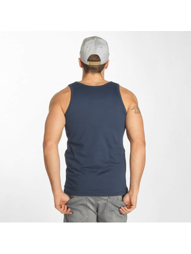 Wrung Division Hombres Tank Tops Board in azul