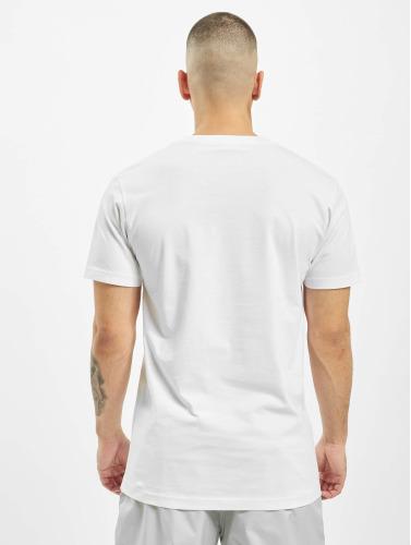 Wu-Tang Hombres Camiseta Logo in blanco