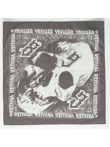 Yakuza Herren Bandana Skull in grau