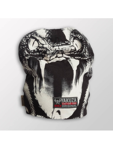 Yakuza Beanie Allover Snake II in grau